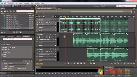 Captura de pantalla Adobe Audition CC para Windows 7