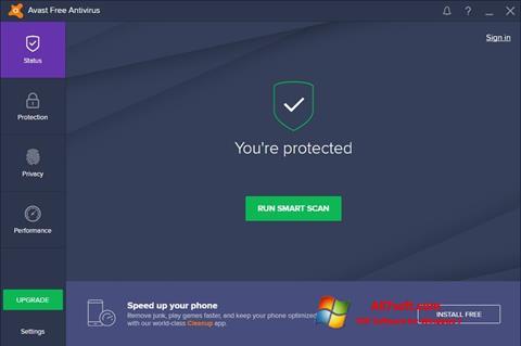 Captura de pantalla Avast Free Antivirus para Windows 7
