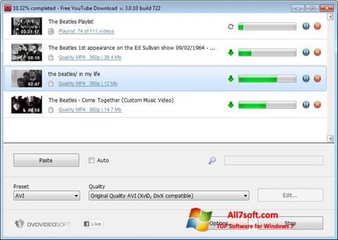 Captura de pantalla Free YouTube Download para Windows 7
