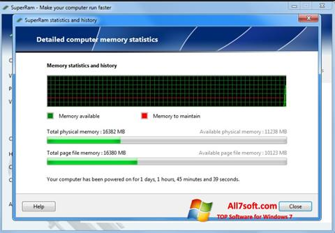 Captura de pantalla SuperRam para Windows 7