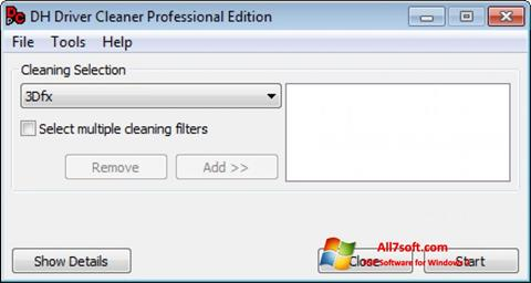 Captura de pantalla Driver Cleaner para Windows 7