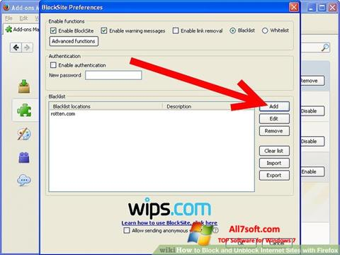 Captura de pantalla uBlock para Windows 7
