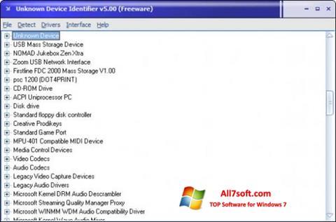 Captura de pantalla Unknown Device Identifier para Windows 7