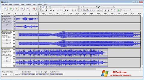 Captura de pantalla Audacity para Windows 7