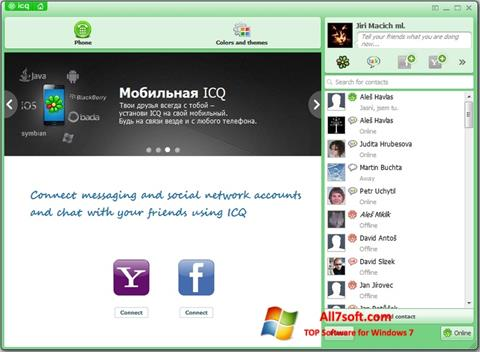 Captura de pantalla ICQ para Windows 7