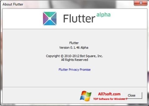 Captura de pantalla Flutter para Windows 7