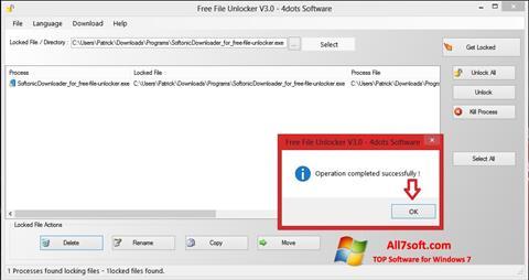 Captura de pantalla Free File Unlocker para Windows 7