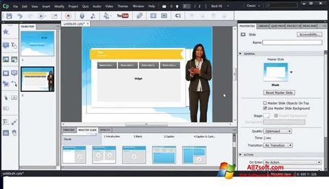 Captura de pantalla Adobe Captivate para Windows 7