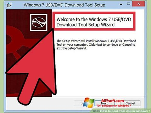 Captura de pantalla Windows 7 USB DVD Download Tool para Windows 7