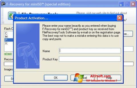 Captura de pantalla F-Recovery SD para Windows 7