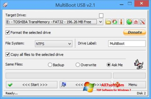 Captura de pantalla Multi Boot USB para Windows 7