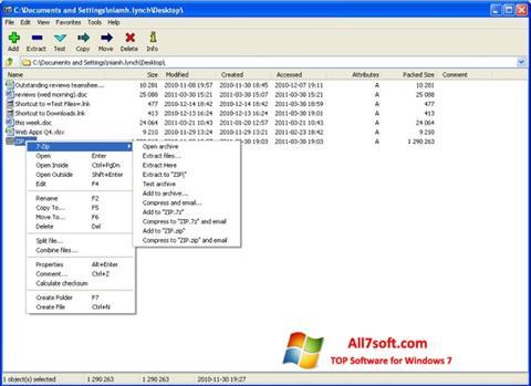 Captura de pantalla 7-Zip para Windows 7