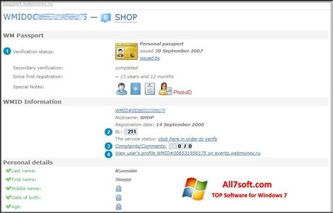 Captura de pantalla WebMoney Keeper Classic para Windows 7
