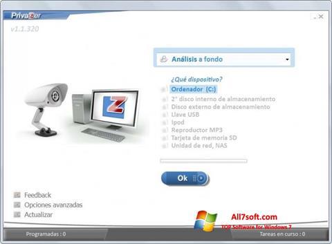 Captura de pantalla PrivaZer para Windows 7