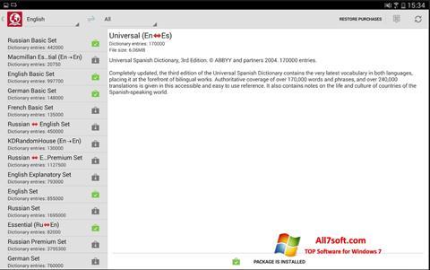 Captura de pantalla ABBYY Lingvo para Windows 7