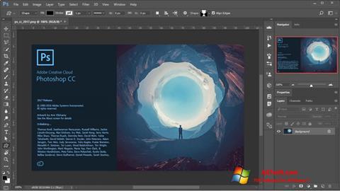 Captura de pantalla Adobe Photoshop para Windows 7