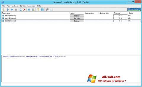 Captura de pantalla Handy Backup para Windows 7