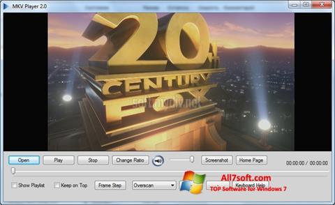 Captura de pantalla MKV Player para Windows 7