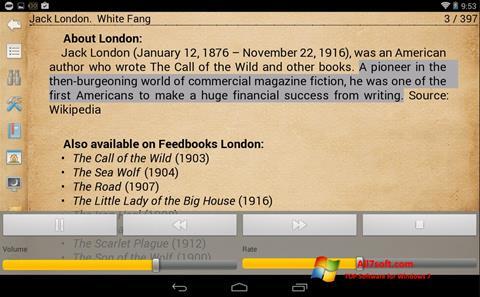 Captura de pantalla Cool Reader para Windows 7