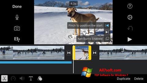 Captura de pantalla iMovie para Windows 7