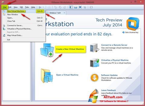 Captura de pantalla VMware Workstation para Windows 7