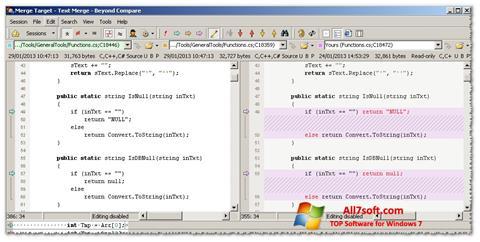 Captura de pantalla Beyond Compare para Windows 7