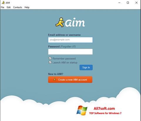 Captura de pantalla AOL Instant Messenger para Windows 7