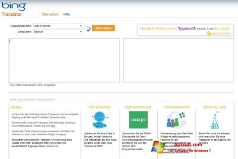 Captura de pantalla Bing Translator para Windows 7