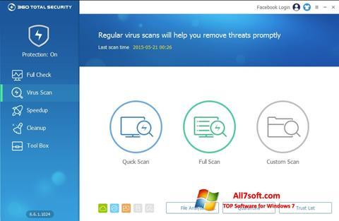Captura de pantalla 360 Total Security para Windows 7