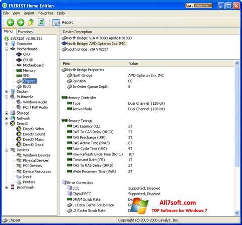 Captura de pantalla EVEREST Home Edition para Windows 7