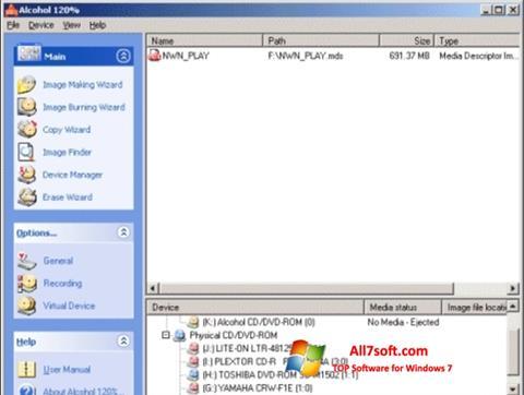 Captura de pantalla Alcohol 120% para Windows 7