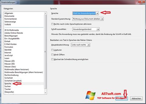 Captura de pantalla Adobe Reader para Windows 7