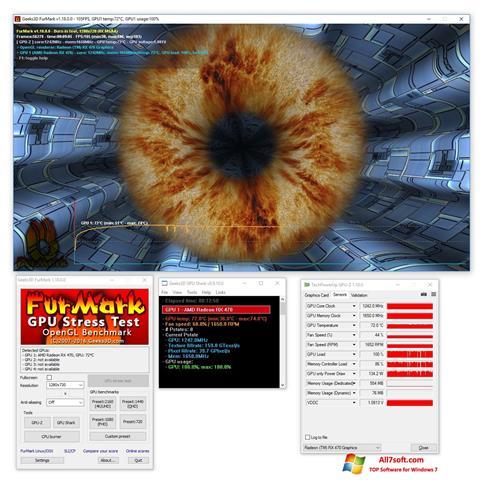Captura de pantalla FurMark para Windows 7
