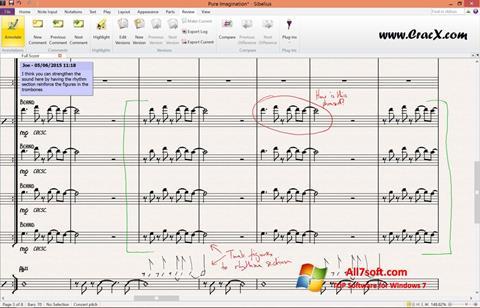 Captura de pantalla Sibelius para Windows 7