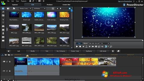 Captura de pantalla CyberLink PowerDirector para Windows 7