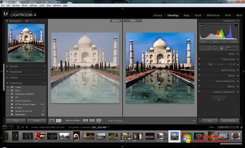 Captura de pantalla Adobe Photoshop Lightroom para Windows 7