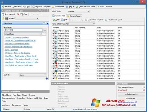 Captura de pantalla ReNamer para Windows 7