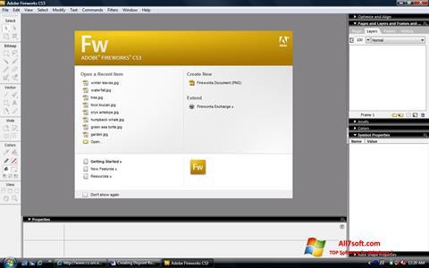 Captura de pantalla Adobe Fireworks para Windows 7