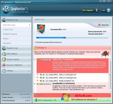 Captura de pantalla SpyHunter para Windows 7