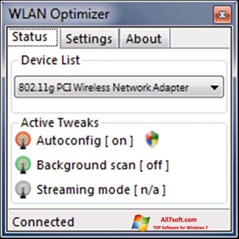 Captura de pantalla WLAN Optimizer para Windows 7