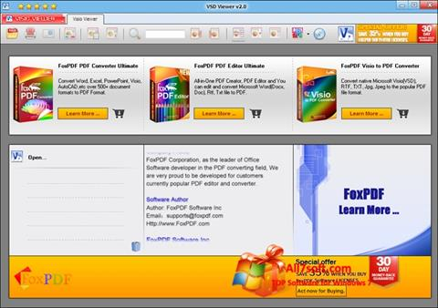 Captura de pantalla VSD Viewer para Windows 7