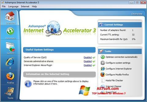 Captura de pantalla Ashampoo Internet Accelerator para Windows 7