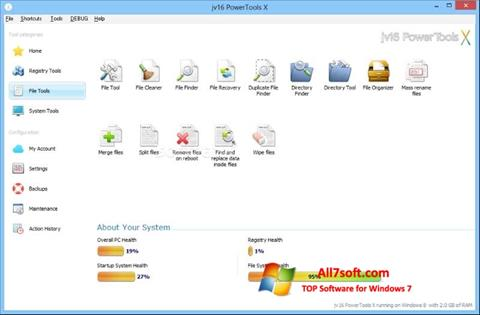 Captura de pantalla jv16 PowerTools para Windows 7
