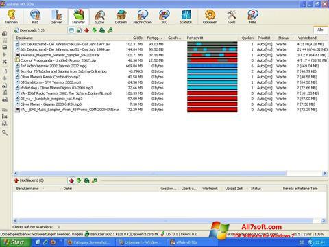 Captura de pantalla eMule para Windows 7