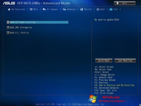 Captura de pantalla ASUS Update para Windows 7