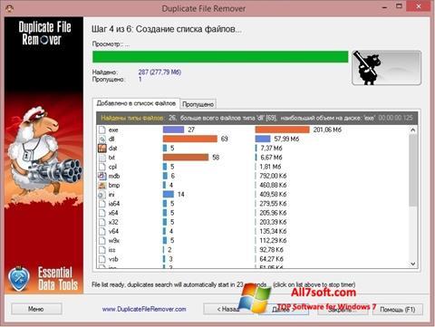 Captura de pantalla Duplicate File Remover para Windows 7