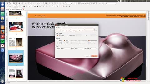 Captura de pantalla Master PDF Editor para Windows 7