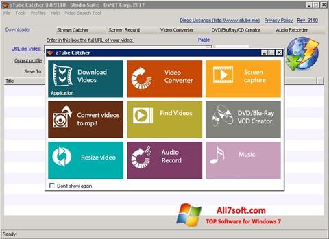 Captura de pantalla aTube Catcher para Windows 7