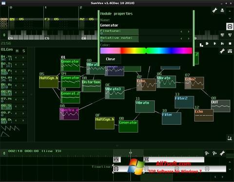 Captura de pantalla SunVox para Windows 7