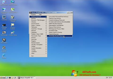 Captura de pantalla Hirens Boot CD para Windows 7